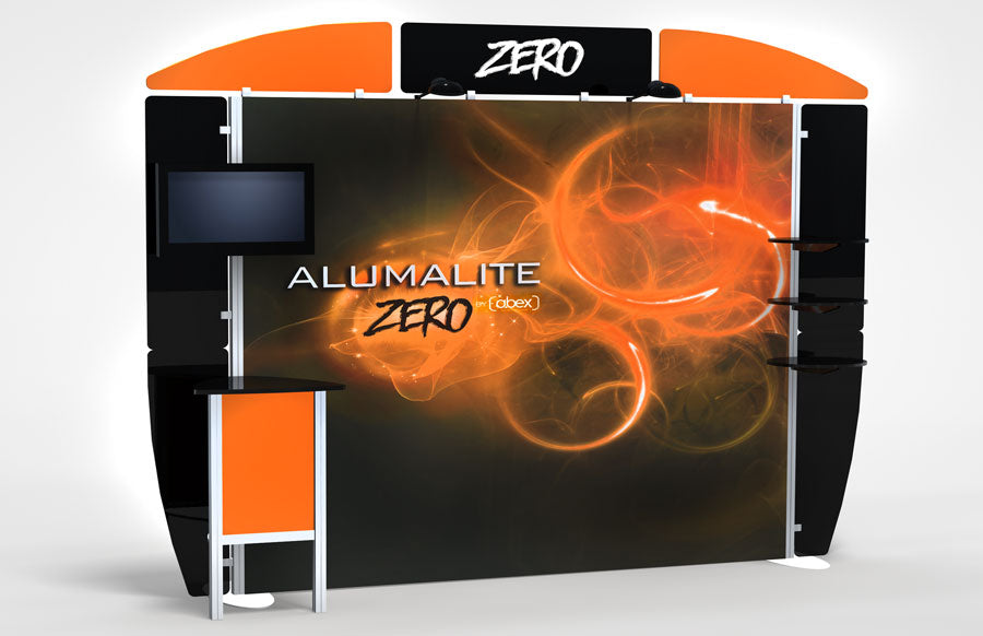 10 Foot Alumalite Zero Hybrid Trade Show Exhibit Booth Display AZ5