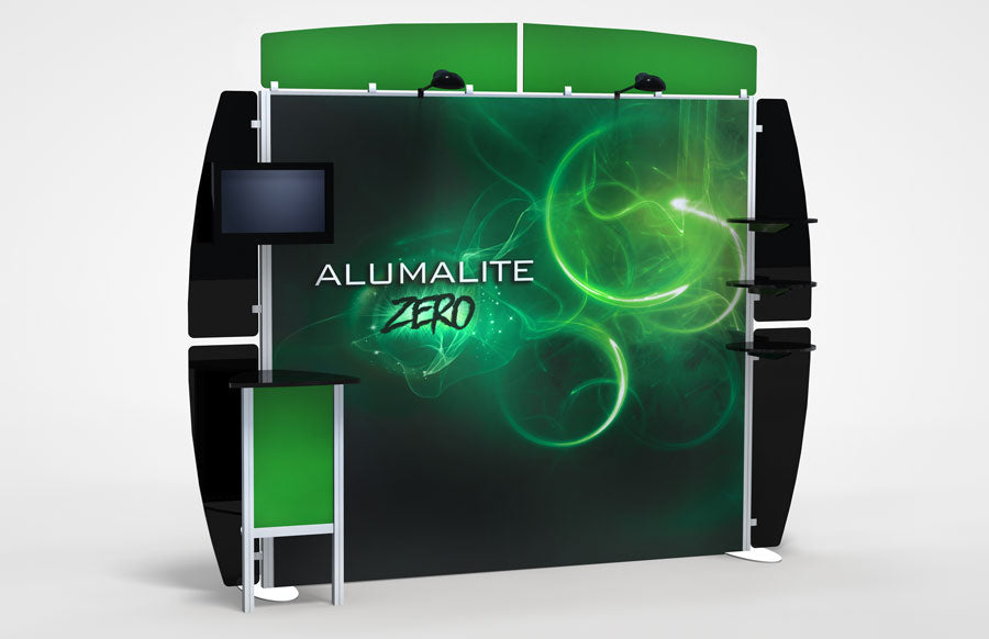 10 Foot Alumalite Zero Hybrid Trade Show Exhibit Booth Display AZ6