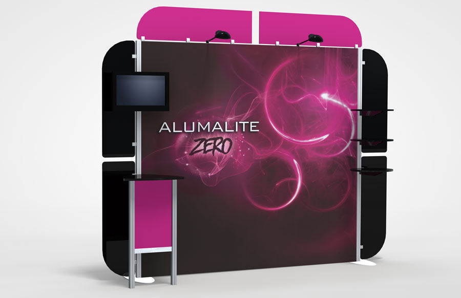 10 Foot Alumalite Zero Hybrid Trade Show Exhibit Booth Display AZ7