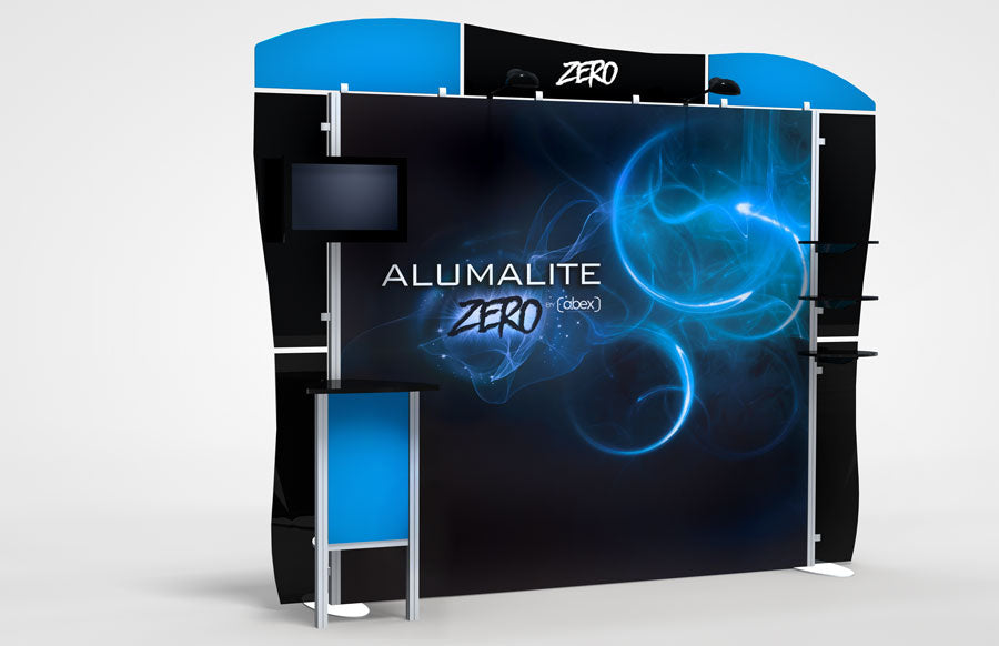 10 Foot Alumalite Zero Hybrid Trade Show Exhibit Booth Display AZ8
