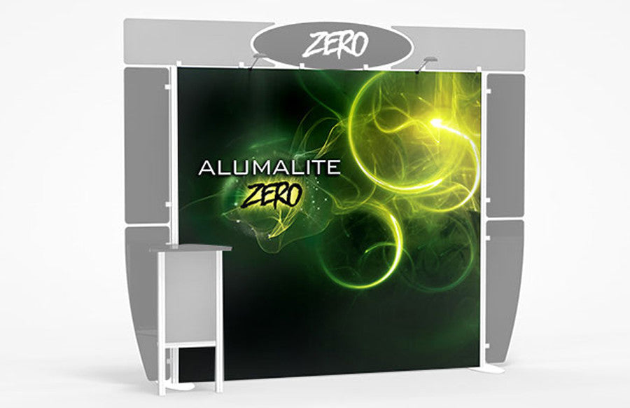 10 Foot Alumalite Zero Full Backwall Replacement Graphic