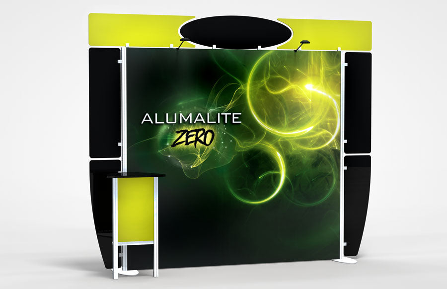 10 Foot Alumalite Zero Hybrid Trade Show Exhibit Booth Display AZ1