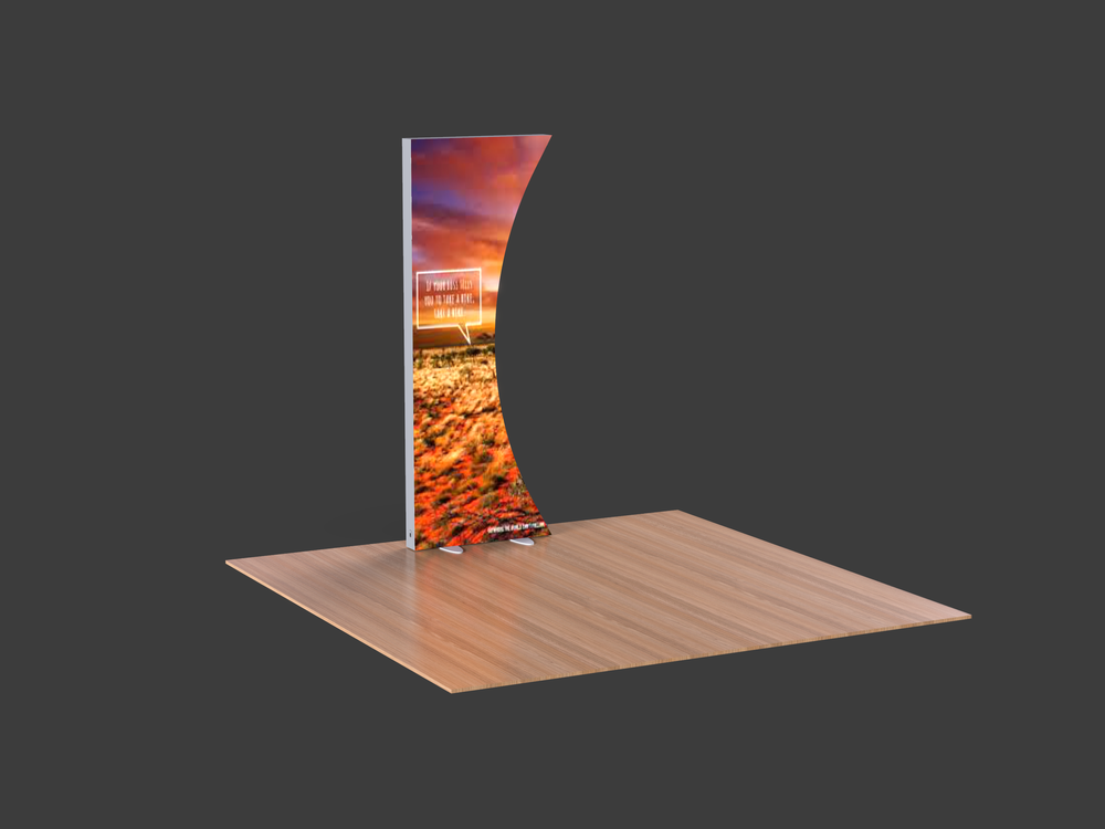 LumiWall Curved 3' x 8' LED Backlit Fabric Display