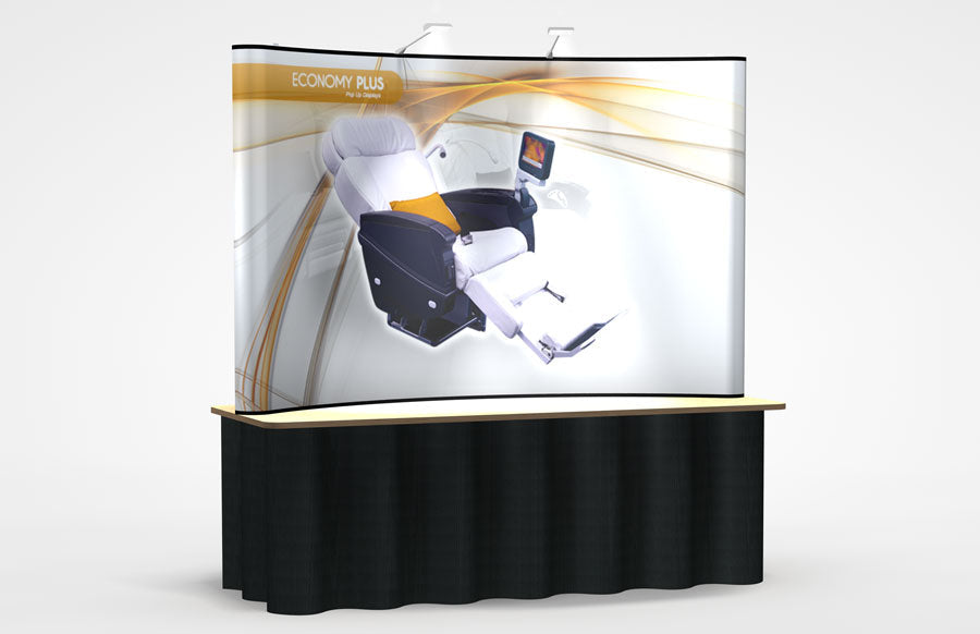 8 Foot Abex Economy Plus Tabletop Display All Graphic Kit