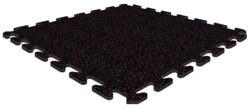 "SportRubber 2' x 2' x 3/8"" - Black & Red - Minimum 50 Pieces"