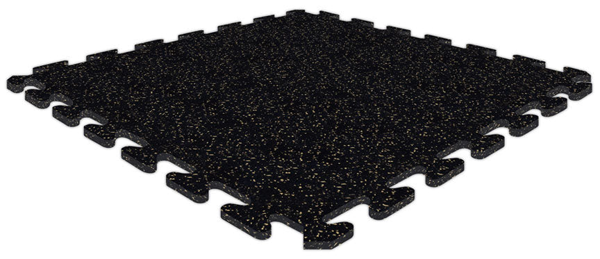 "SportRubber 2' x 2' x 3/8"" - Black & Tan - Minimum 50 Pieces"