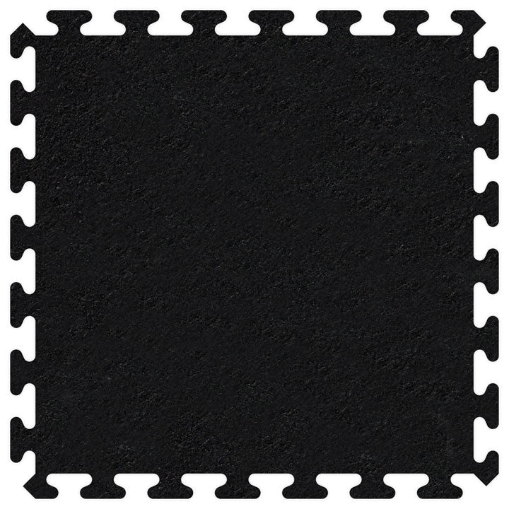 "SportRubber 2' x 2' x 3/8"" - Black - Minimum 50 Pieces"