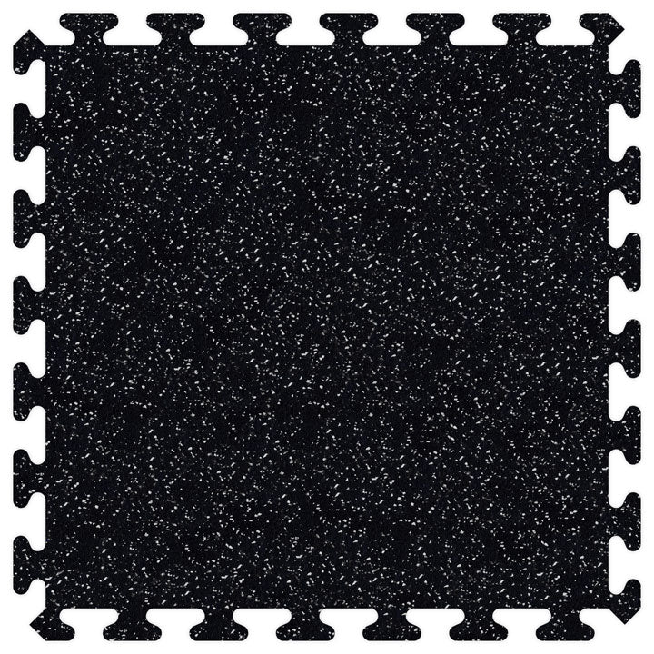 "SportRubber 2' x 2' x 3/8"" - Black & Grey - Minimum 50 Pieces"
