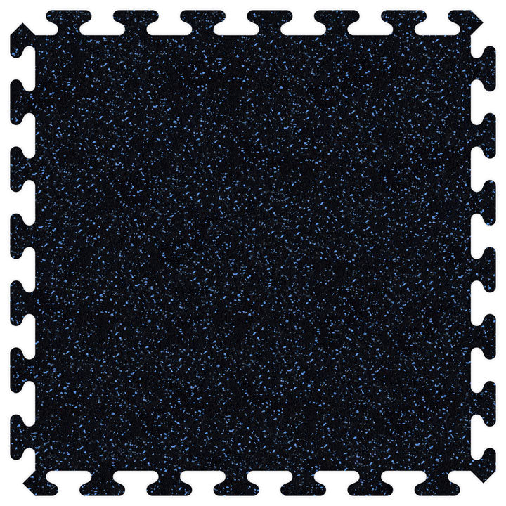"SportRubber 2' x 2' x 3/8"" - Black & Royal Blue - Minimum 50 Pieces"