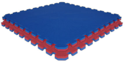 "Jumbo Reversible SoftFloors 2' x 2' x 7/8"" - Red/Royal Blue"
