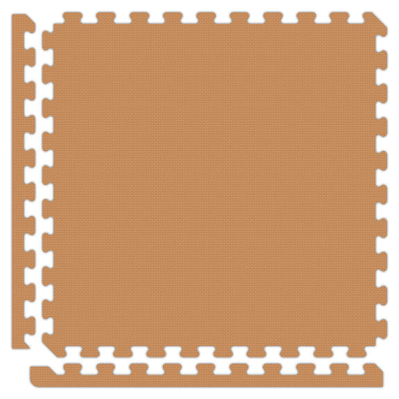 "Jumbo Reversible SoftFloors 2' x 2' x 7/8"" - Brown/Tan"