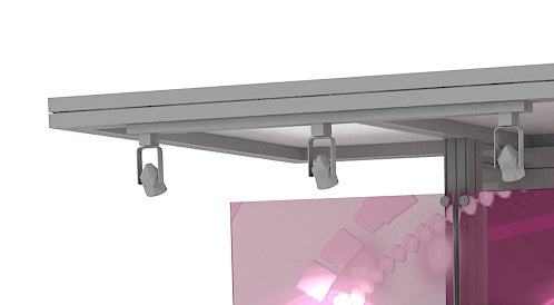 Track Lights for Backwall Ceiling (Part# LT-HT50163-BS)