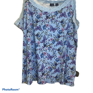 Primary Photo - BRAND: BASIC EDITIONS STYLE: TOP SLEEVELESS COLOR: BLUE SIZE: 4X SKU: 256-25612-67502