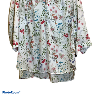 Primary Photo - BRAND: JONES AND CO STYLE: TOP LONG SLEEVE COLOR: FLOWERED SIZE: 2X SKU: 256-25612-60270