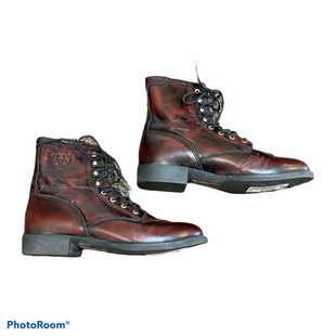 Primary Photo - BRAND: ARIAT STYLE: BOOTS ANKLE COLOR: RED BLACK SIZE: 6 SKU: 256-25612-65783