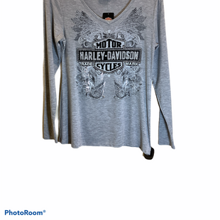 Primary Photo - BRAND: HARLEY DAVIDSON STYLE: TOP LONG SLEEVE COLOR: GREY SIZE: M SKU: 256-25611-40636