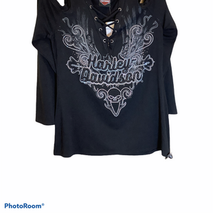 Primary Photo - BRAND: HARLEY DAVIDSON STYLE: TOP LONG SLEEVE COLOR: BLACK SIZE: M SKU: 256-25611-40637