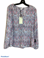 Primary Photo - BRAND: ELIANE ROSE <BR>STYLE: TOP LONG SLEEVE <BR>COLOR: MULTI <BR>SIZE: M <BR>SKU: 256-25673-3971