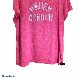 Primary Photo - BRAND: UNDER ARMOUR STYLE: ATHLETIC TOP SHORT SLEEVE COLOR: PINK SIZE: XL SKU: 256-25612-67673