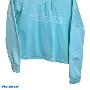 Primary Photo - BRAND: ADIDAS STYLE: SWEATSHIRT HOODIE COLOR: MINT SIZE: M SKU: 256-25647-11269