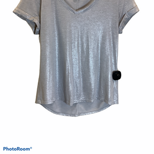 Primary Photo - BRAND: WHITE HOUSE BLACK MARKET STYLE: TOP SHORT SLEEVE COLOR: SILVER SIZE: M SKU: 256-25653-9481