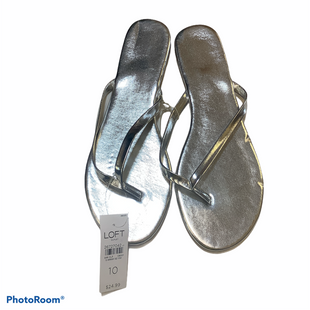 Primary Photo - BRAND: LOFT STYLE: FLIP FLOPS COLOR: SILVER SIZE: 10 OTHER INFO: NEW! SKU: 256-25673-11888