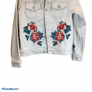 Primary Photo - BRAND: MOTHER JEANS STYLE: JACKET OUTDOOR COLOR: CREAM SIZE: S SKU: 256-25611-38800