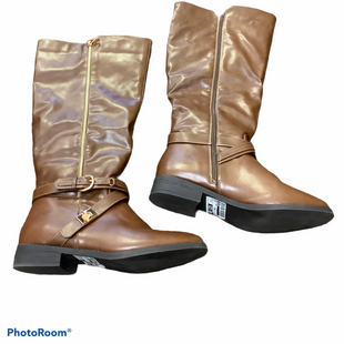 Primary Photo - BRAND: JUST FAB STYLE: BOOTS KNEE COLOR: BROWN SIZE: 10 SKU: 256-25661-14435