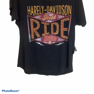 Primary Photo - BRAND: HARLEY DAVIDSON STYLE: TOP SHORT SLEEVE COLOR: BLACK SIZE: M SKU: 256-25611-40613
