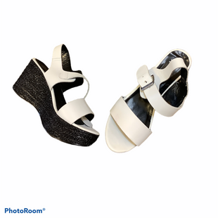 Primary Photo - BRAND:    CLOTHES MENTOR STYLE: SANDALS HIGH COLOR: BLACK WHITE SIZE: 8.5 OTHER INFO: FRANCO BANETTI - SKU: 256-25678-925