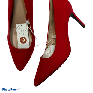 Primary Photo - BRAND: A NEW DAY STYLE: SHOES HIGH HEEL COLOR: RED SIZE: 10 OTHER INFO: WIDE SKU: 256-25647-11009