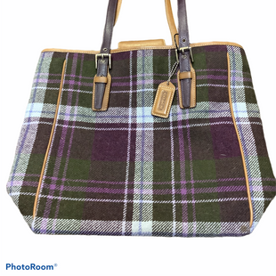 Primary Photo - BRAND: COACH STYLE: HANDBAG DESIGNER COLOR: PLAID SIZE: MEDIUM SKU: 256-25611-38067