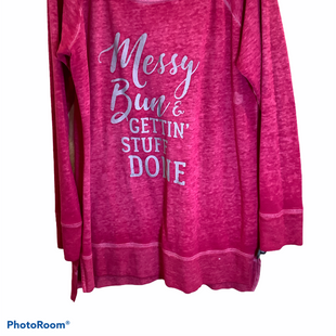 Primary Photo - BRAND: MAURICES STYLE: TOP LONG SLEEVE COLOR: PINK SIZE: 1X SKU: 256-25661-17913