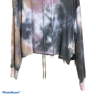 Primary Photo - BRAND:    CLOTHES MENTOR STYLE: SWEATSHIRT HOODIE COLOR: TIE DYE SIZE: M OTHER INFO: PHIL LOVE - SKU: 256-25661-17545