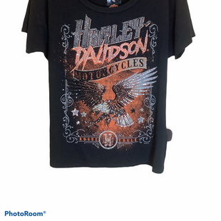Primary Photo - BRAND: HARLEY DAVIDSON STYLE: TOP SHORT SLEEVE COLOR: BLACK SIZE: L SKU: 256-25611-40611