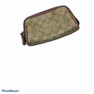 Primary Photo - BRAND: COACH STYLE: MAKEUP BAG COLOR: TAN OTHER INFO: DESIGNER SKU: 256-25612-65627