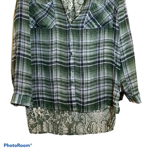 Primary Photo - BRAND: BAND OF GYPSIES STYLE: BLOUSE COLOR: GREEN SIZE: XS SKU: 256-25661-12535