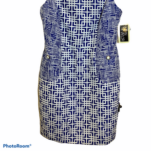 Primary Photo - BRAND: JULIAN TAYLOR STYLE: DRESS SHORT SLEEVELESS COLOR: BLUE WHITE SIZE: L SKU: 256-25629-43459