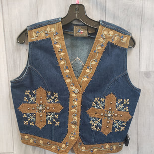 Primary Photo - BRAND:    CLOTHES MENTOR STYLE: VEST COLOR: DENIM SIZE: M OTHER INFO: DONT MESS WITH TEXAS - SKU: 256-25629-42479