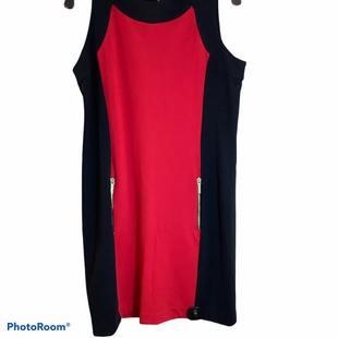 Primary Photo - BRAND: MICHAEL KORS STYLE: DRESS SHORT SLEEVELESS COLOR: BLACK RED SIZE: L SKU: 256-25612-61061