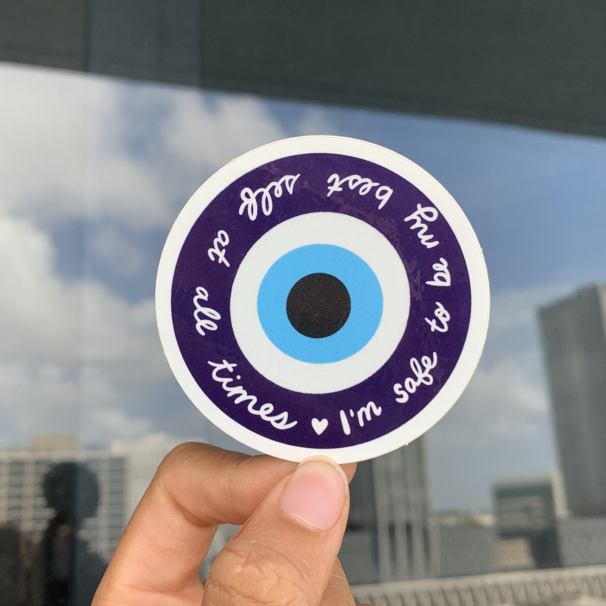 """My Best Self"" Evil Eye Sticker"