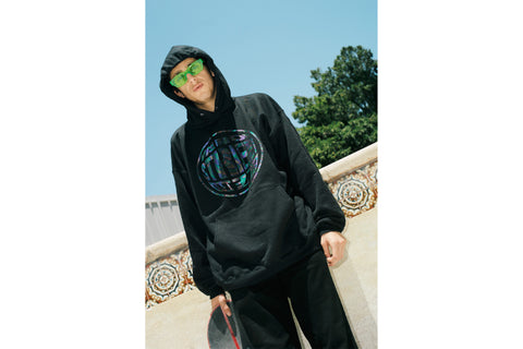The Checkmate Hoodie - Black Multi