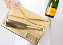 Load image into Gallery viewer, LARGE GOLD CHAMPAGNE CLUTCH