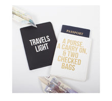 Load image into Gallery viewer, TRAVELS LIGHT PASSPORT COVER SET