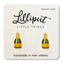 Load image into Gallery viewer, CHAMPAGNE BOTTLE EARRINGS