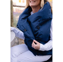 Load image into Gallery viewer, NAVY WATERPROOF PRETTY PUFFER VEST