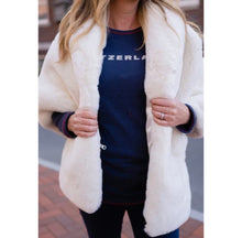 Load image into Gallery viewer, WHITE FAUX FUR FOUR SEASONS CAPELET
