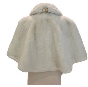 WHITE FAUX FUR FOUR SEASONS CAPELET
