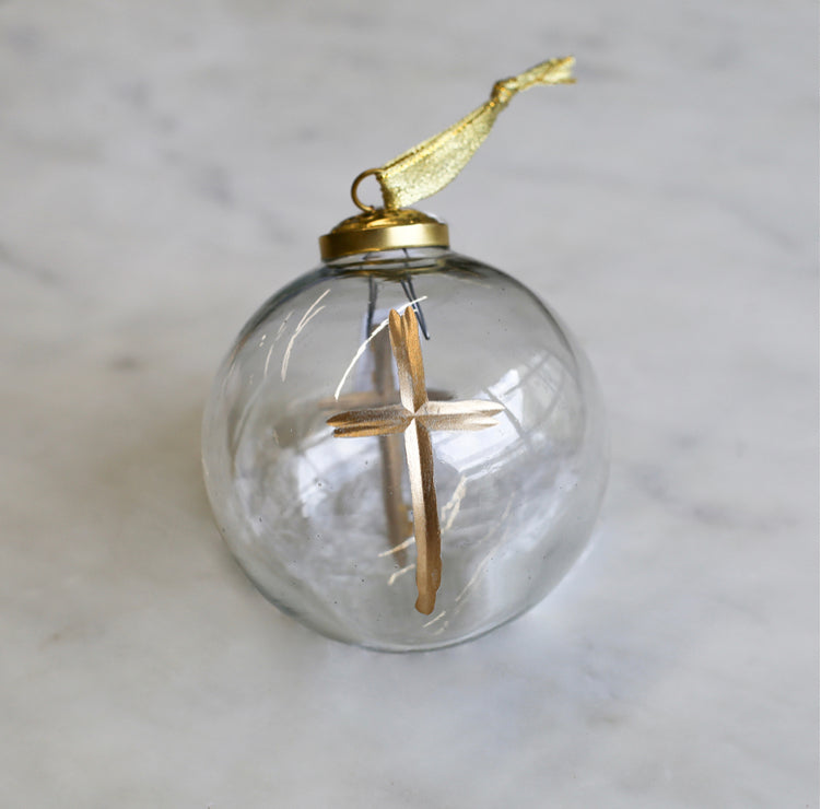 CRUIX GLASS BALL ORNAMENT
