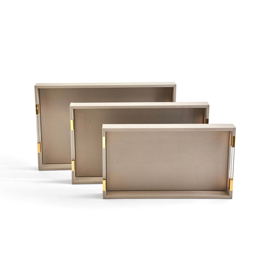 TAUPE DECORATIVE TRAYS